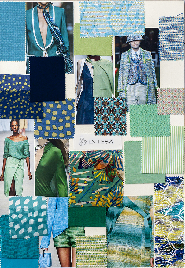 Collage tessuti estivi blu