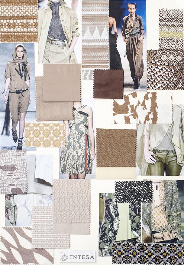 Collage tessuti estivi bianco