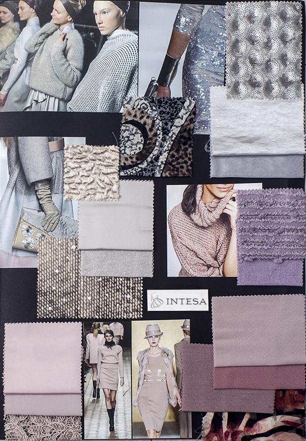 Collage tessuti invernali bianco